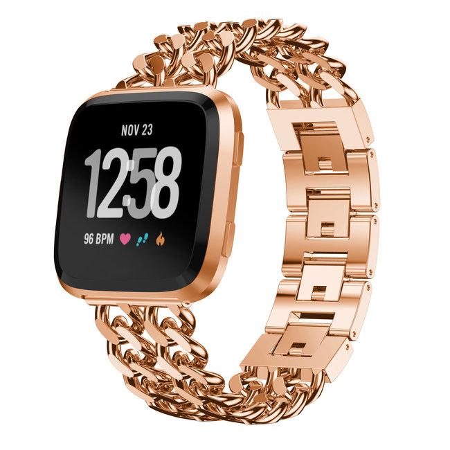 Marke 123watches Fitbit versa cowboy stahlgliederband - roségold