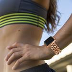 123Watches Fitbit versa cowboy stahlgliederband - roségold