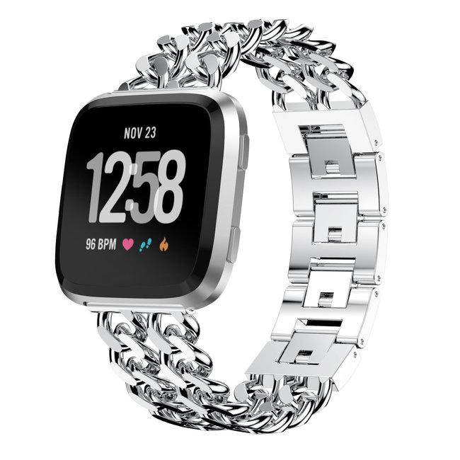 Marke 123watches Fitbit versa cowboy stahlgliederband - silber
