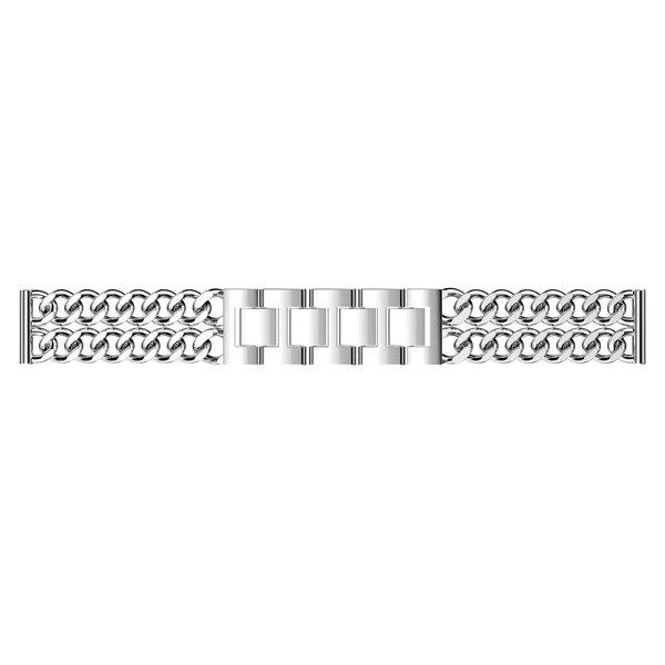 123Watches Fitbit versa cowboy stahlgliederband - silber