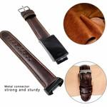 123Watches Fitbit charge 3 & 4 original- lederarmband - dunkelbraun