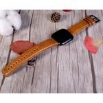 123Watches Fitbit Versa original lederarmband - hellbraun