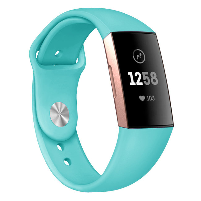 Marke 123watches Fitbit Charge 3 & 4 Sport Silikonband - grün