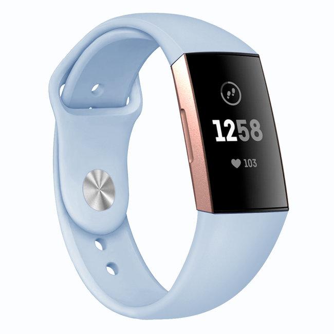Marke 123watches Fitbit Charge 3 & 4 Sport Silikonband - hellblau