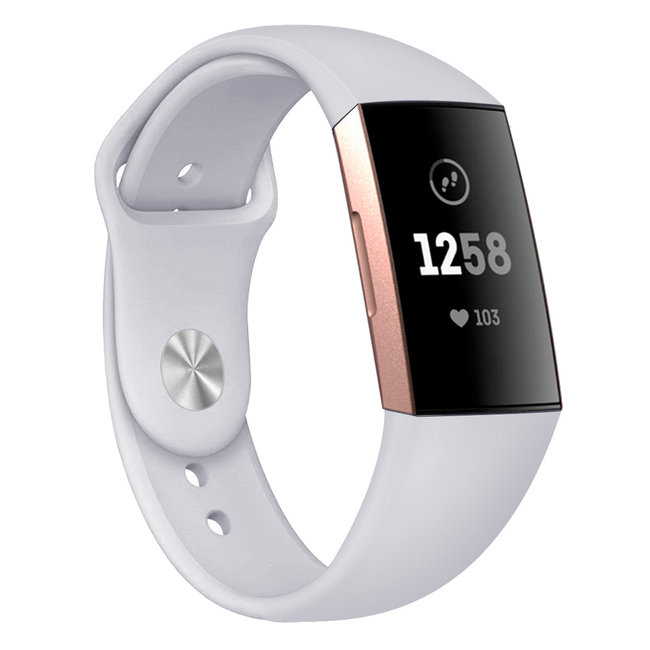 123watches Fitbit Charge 3 & 4 Sport Silikonband - hellgrau