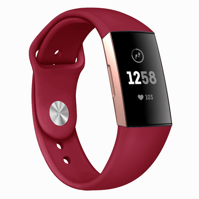 Marke 123watches Fitbit Charge 3 & 4 Sport Silikonband - rot