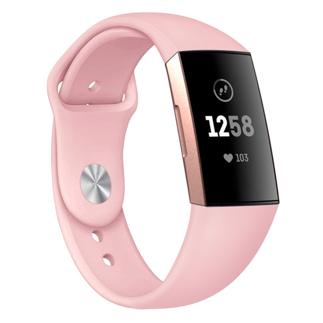 Marke 123watches Fitbit Charge 3 & 4 Sport Silikonband - pink