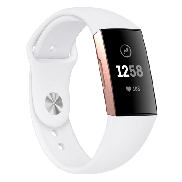 123Watches Fitbit Charge 3 & 4 Sport Silikonband - weiß