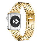 123Watches Apple watch Fischstahl Gliederband - Gold