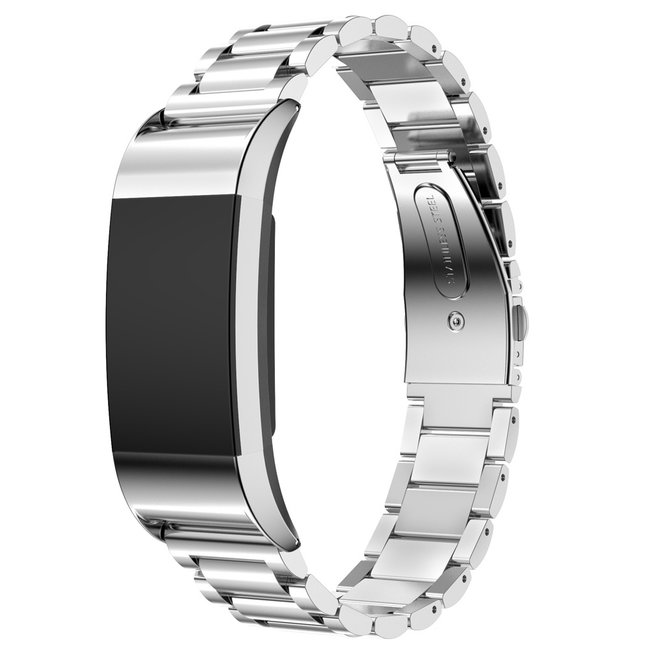 Marke 123watches Fitbit charge 2 3 PerlenGliederband - Silber