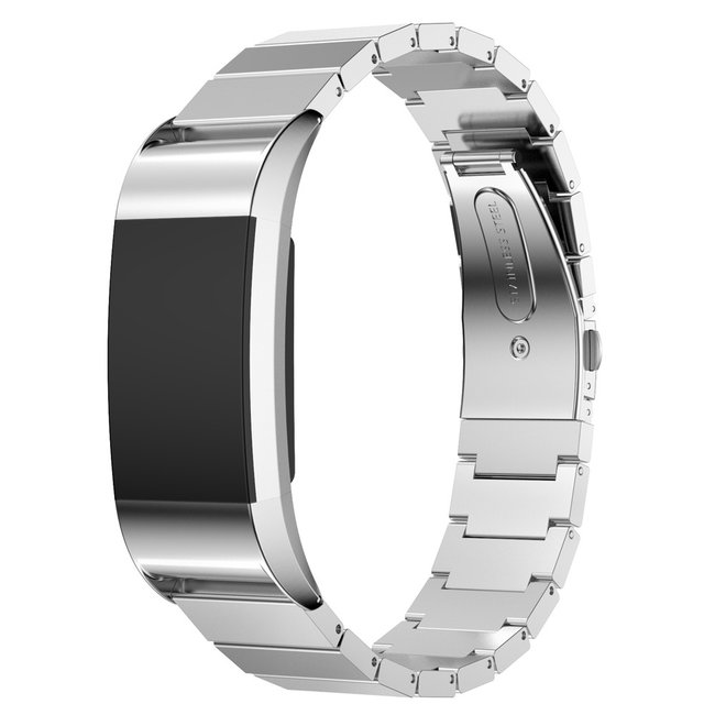 Marke 123watches Fitbit charge 2 Gliederband - Silber