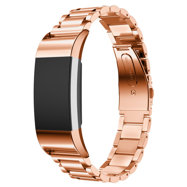 123watches Fitbit charge 2 3 PerlenGliederband - Roségold