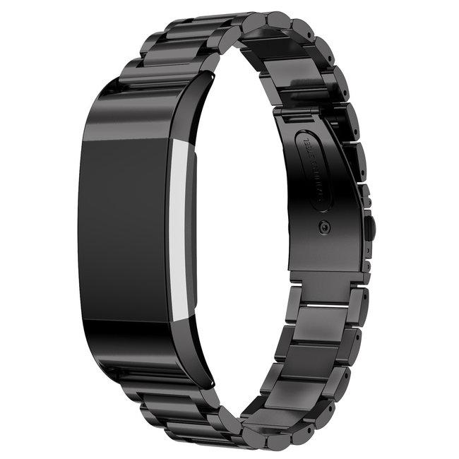 123watches Fitbit charge 2 3 PerlenGliederband - schwarz