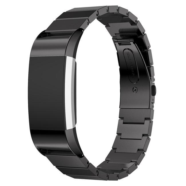 Marke 123watches Fitbit charge 2 Gliederband - schwarz