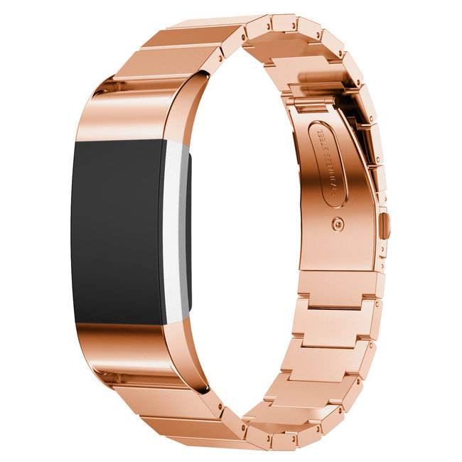 123watches Fitbit charge 2 Gliederband - Roségold