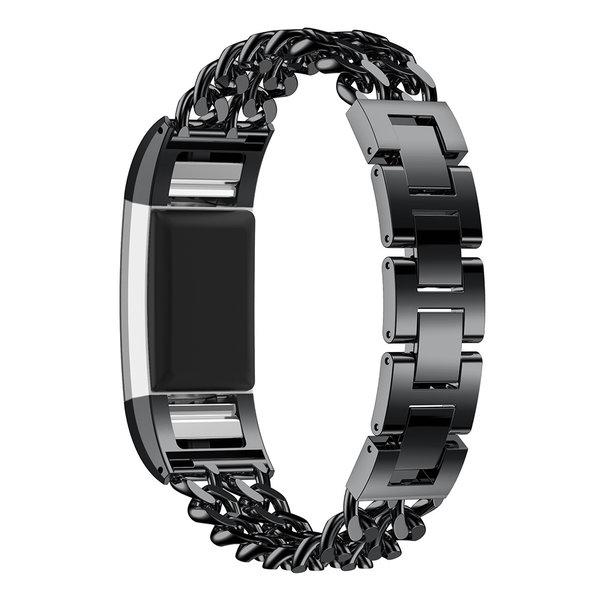 123Watches Fitbit charge 3 & 4 cowboy Gliederband - schwarz