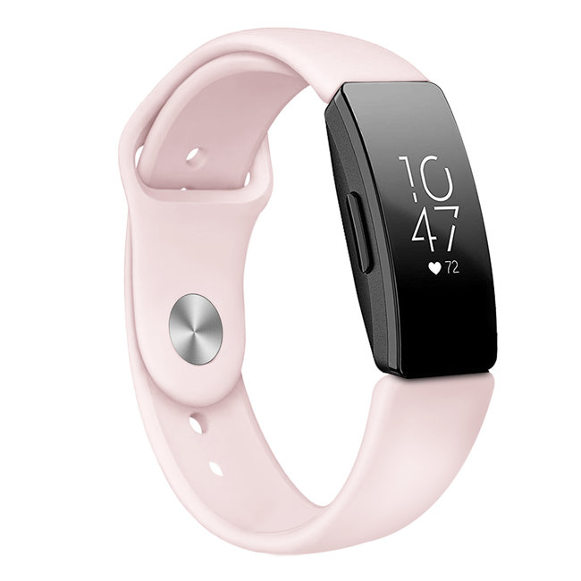 Marke 123watches Fitbit Inspire Sport Silikonband - pink sand