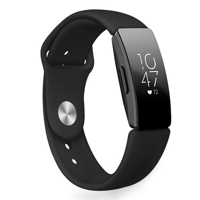 Marke 123watches Fitbit Inspire Sport Silikonband - schwarz