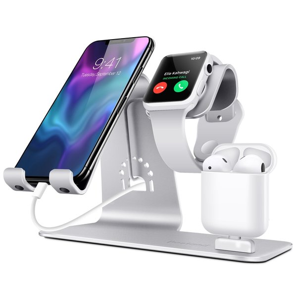 123Watches Apple Watch Metall TI-Mingle 3 in 1 Dock - Silber