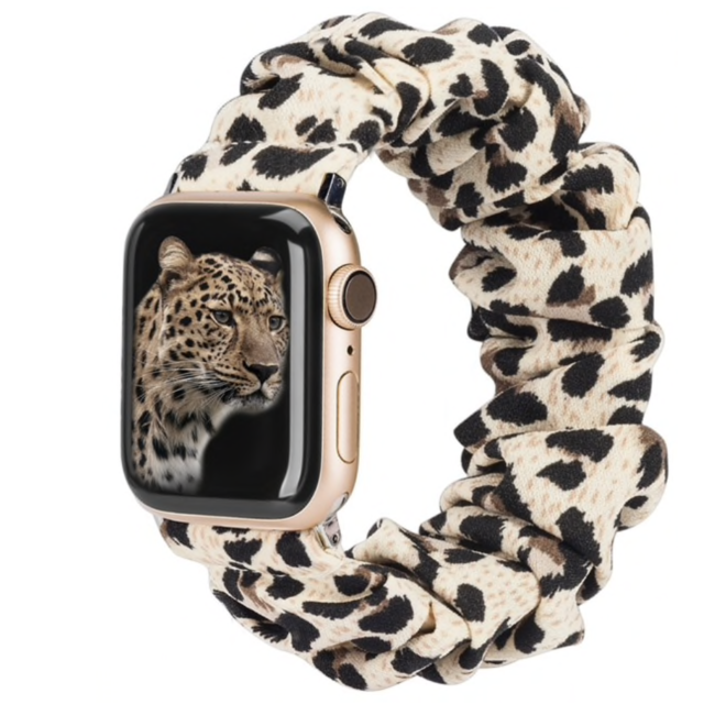 123watches Apple Watch Scrunchie Band - Panther