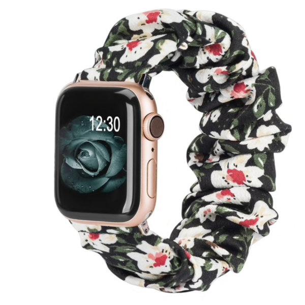123Watches Apple Watch Scrunchie Band - Blumen