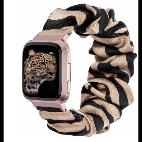 123Watches Fitbit Versa Scrunchie Band - Zebra