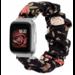 123watches Fitbit Versa Scrunchie Band - Blumen schwarz