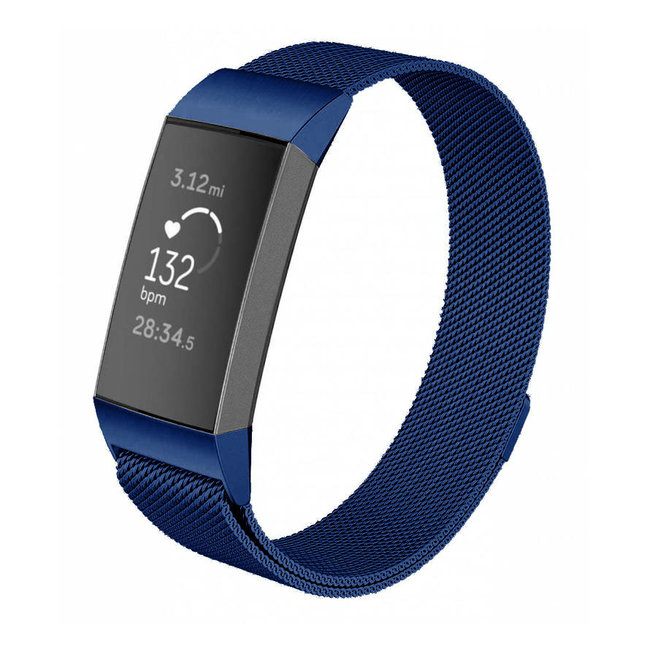 Fitbit charge 3 & 4 milanese band - blau