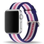 123Watches Apple Watch nylonschnallenband - rosa gestreift