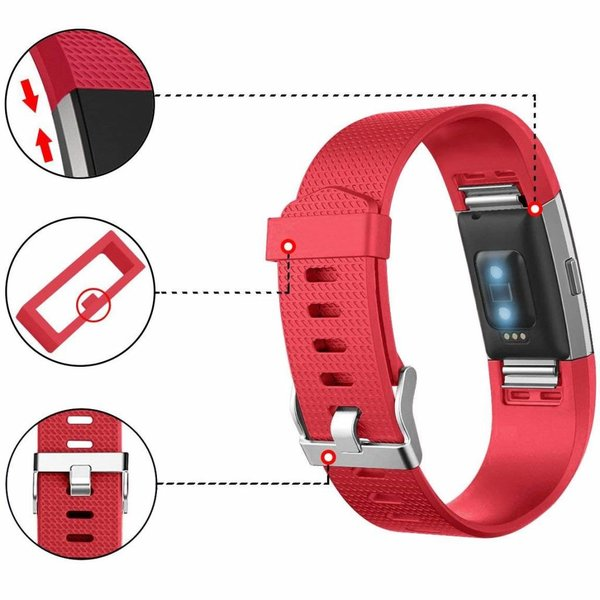 123Watches Fitbit charge 2 sport band - rot