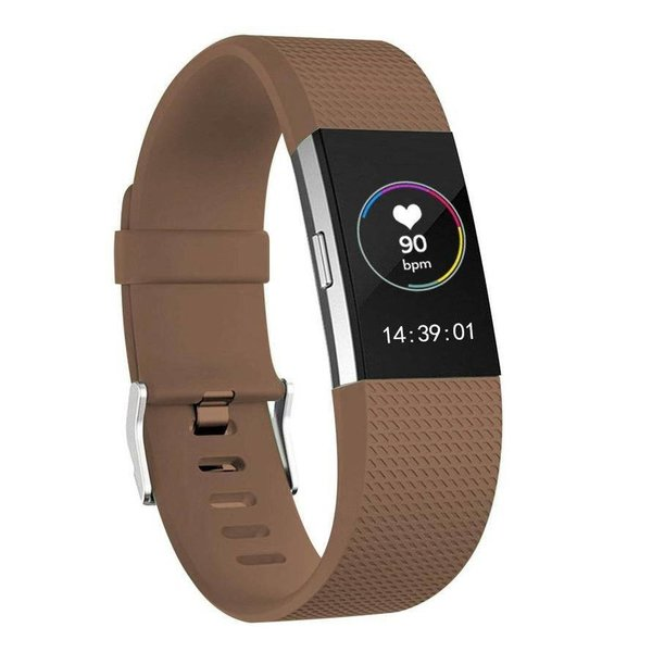 123Watches Fitbit charge 2 sport band - braun