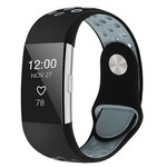 123Watches Fitbit charge 2 sport band - schwarz grau