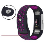123Watches Fitbit charge 2 sport band - schwarz lila
