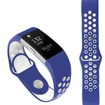 123Watches Fitbit charge 2 sport band - dunkelblau weiß