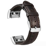 123Watches Fitbit charge 2 genuine lederarmband - dunkelbraun