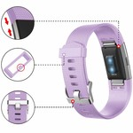 123Watches Fitbit charge 2 sport band - hellviolett
