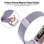 123Watches Fitbit charge 3 & 4 milanese band - lavendel
