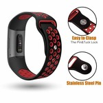 123Watches Fitbit Charge 3 & 4 sport band - schwarz rot