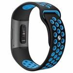 123Watches Fitbit charge 3 & 4 sport band - schwarz blau