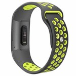 123Watches Fitbit Charge 3 & 4 sport band - grau gelb