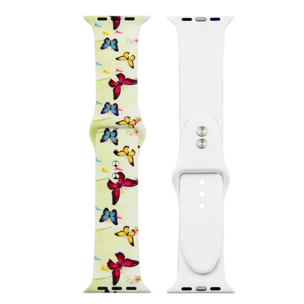 123Watches Apple Watch Print Sportband - Schmetterling