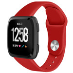 123Watches Fitbit versa silicone band - rot
