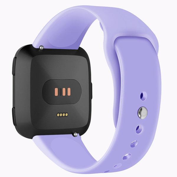 123Watches Fitbit versa silicone band - hellviolett