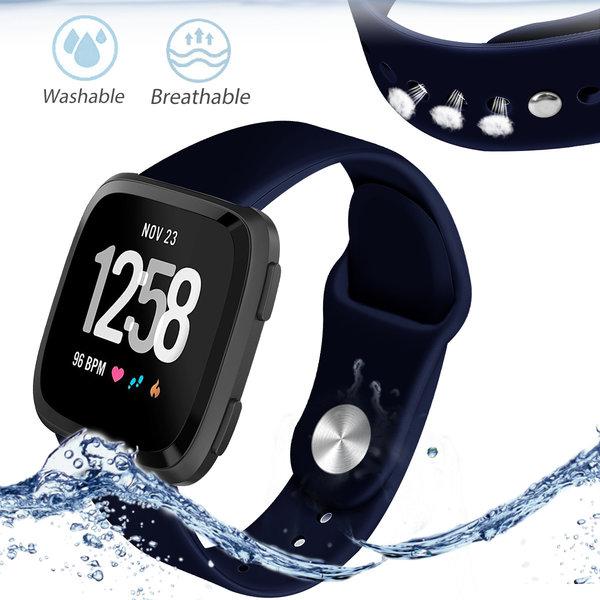 123Watches Fitbit versa silicone band - navy blau