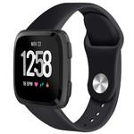 123Watches Fitbit versa silicone band - schwarz