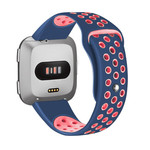 123Watches Fitbit versa doppelt sport band - dunkelblaues pink