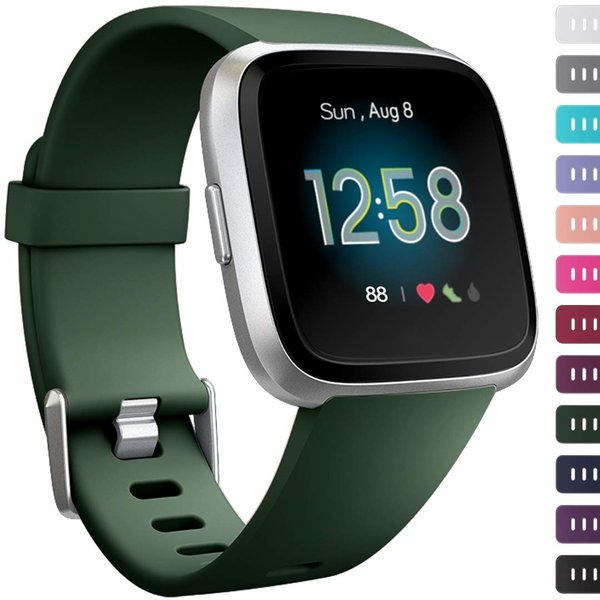 123Watches Fitbit versa sport band - armeegrün