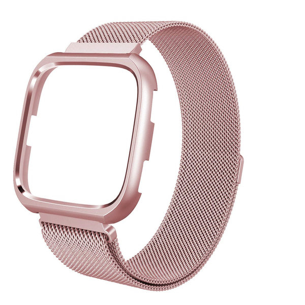 123Watches Fitbit versa milanese case band - stieg rot
