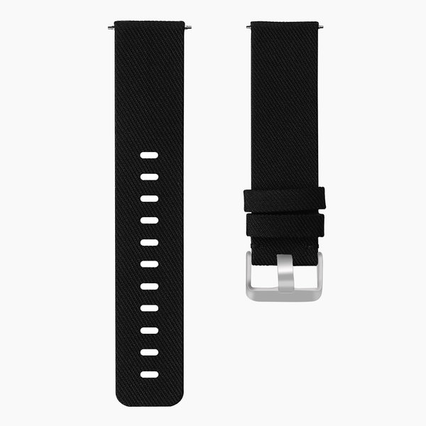 123Watches Fitbit versa nylon gesp band - schwarz
