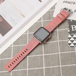 123Watches Fitbit versa nylon gesp band - orange gestreift